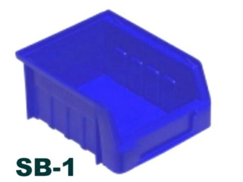 Blue Plastic Parts Bins Strong Stacking Storage Boxes Picking Bin Workshop Box