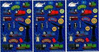 3 Sheets Thomas The Tank Engine Scrapbook Stickers Sir Topham Hatt Percy James