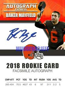 2018-BAKER-MAYFIELD-AUTOGRAPH-EXPRESS-FACSIMILE-AUTO-ROOKIE-CARD-EXTREMELY-RARE