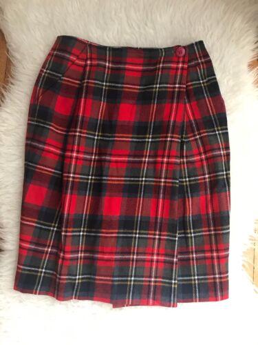 Ilgwu Picone 100 Carreaux Vintage Laine Enveloppant Jupe Evan À Écossais EaqPPOf4