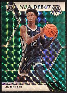 2019-20-Panini-Mosaic-Ja-Morant-NBA-Debut-Green-Prizm-RC-274-Memphis-Grizzlies
