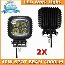 2X 40W Square CREE led work light Spotlights Offroad truck driving lamp Auto 4wd
