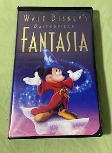 Walt Disney S Fantasia Masterpiece Vhs Black Diamond Edition 1991 Mint Cond Ebay