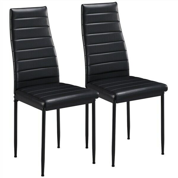 Dining Room Chair Black Metal Wooden Recliner Farmhouse Seats Modern Cathedra For Sale Online Ebay