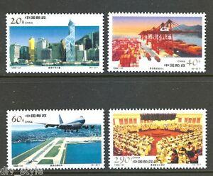 China Hong Kong views set of 4 stamps 1996-31 mnh Airport