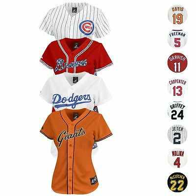 MLB Majestic Athletic Team & Player Women's Official Replica Jersey Collection