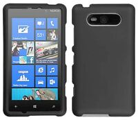 Dark Gray Rubberized Hard Shell Case Cover For Nokia Lumia 820 on Sale