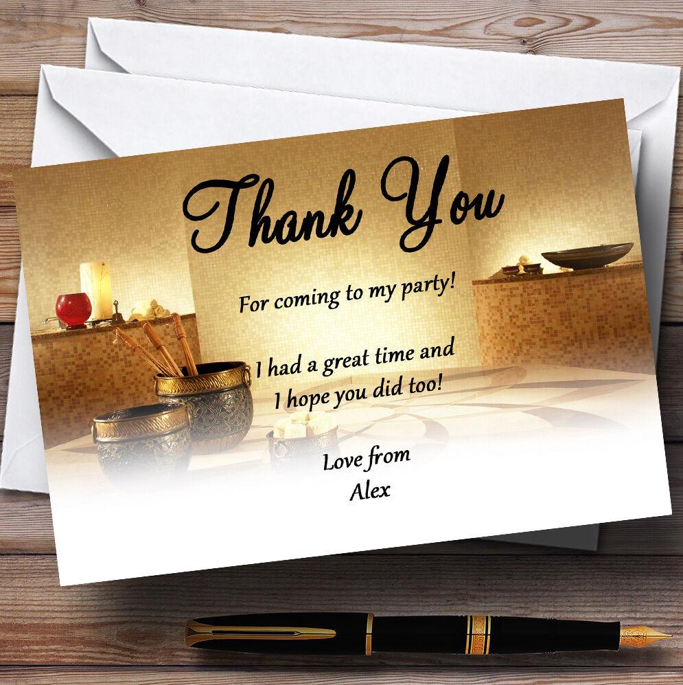 Week-end de détente jour spa jour détente Personnalisé Fête D'Anniversaire cartes remercieHommes t 70d258
