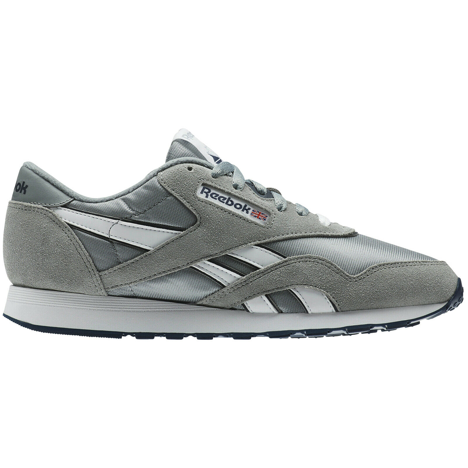 df3498c55ffc9 Reebok Suede Classic Flat Lace-Up Mens Trainers Textile Classic ...