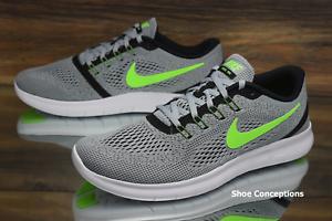 Nike Free RN Platinum Electric Green 831508-003 Running Shoes Men's Size 11.5