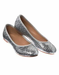 b80074f38f0f NWT Crazy 8 by Gymboree Holiday Party Girl Silver Ballet Flat Shoes ...