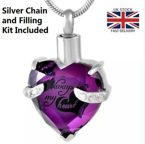 Always-in-my-Heart-Jewellery-Cremation-Urn-Pendant-Ashes-Necklace-Memorial-P
