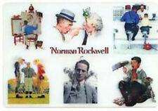 Norman Rockwell - A Montage of 6 -Action & 3D Lenticular Postcard Greeting Card