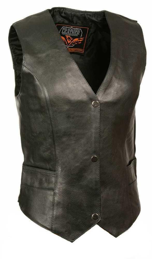 Milwaukee Leather Women's Classic Vest w  Buffalo Snaps ML1253