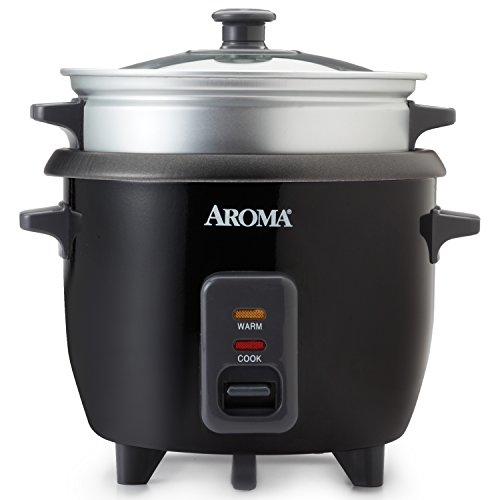 Aroma Housewares ARC-363-1NGB 2-6 cups Cooked Rice cooker, Steamer, Multicooker,