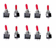 10 Onoff Spst Red Handle Mini Toggle Switches