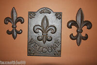 (3),fleur De Lis, Cast Iron Wall Plaques, Wall Decor, Orleans, French Lily