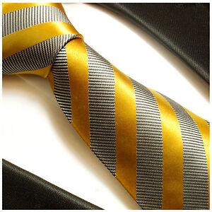 Herren-accessoires Diplomatisch Paul Malone Streifen Krawatte Grau Gold Seide Gestreifte Seidenkrawatte 640 Billigverkauf 50%