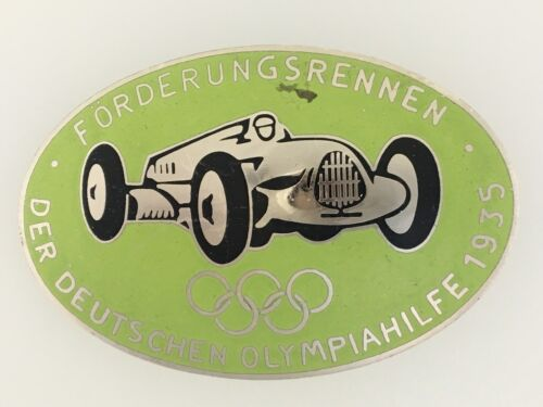 GermanyGerman 1935 Olympic Sponsor German motor race series enamel breast badge