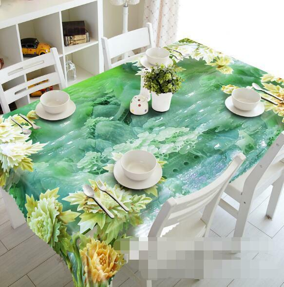 3D Jade Carving 8 Tablecloth Table Cover Cloth Birthday Party Event AJ WALLPAPER