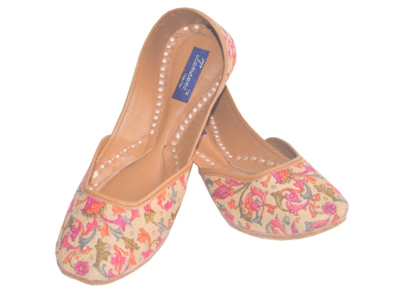 Indian Handcrafted Rajsthani Leather Mojari In Mutli Size Color For Women US Size Mutli 5 26f3e5