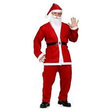 NEW LUXURY PLUSH SANTA CLAUS FATHER CHRISTMAS FANCY DRESS COSTUME MEN OUTFITS XL