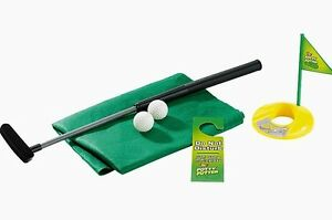 Lustiges Golfset Golfspiel-Set Scherzartikel Indoor Golf Bad WC Klo ...