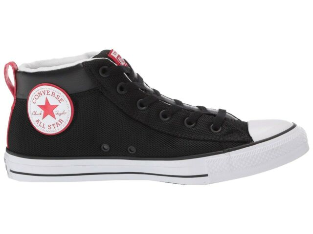 finest selection cheapest price pretty nice Converse Unisex Chuck Taylor All Star STREET MID Shoes Black/White/Red  163404C c