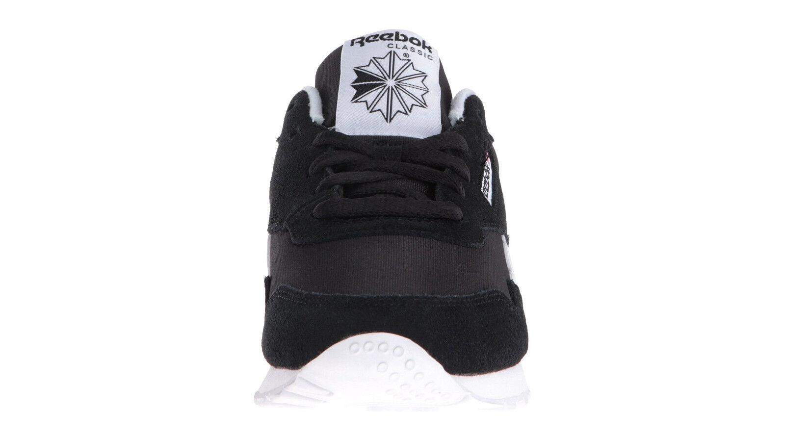 Men/'s Reebok Classic Royal Nylon Lace Up Sneaker Black//White BD1553