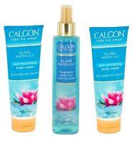 3 Calgon Island Water Lily (2) Skin Nourishing Body Creams & (1) Body Spray 8 Oz