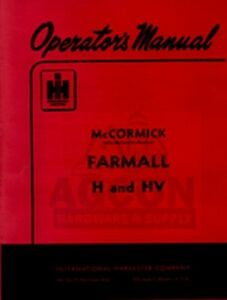 FARMALL-H-amp-HV-Tractor-Owners-Operator-Manual