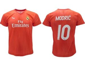 huge discount 85ee5 fdfdc Details about Shirt Modric Real Madrid Official 2018 2019 Luka 10 Third Red  Adult Child
