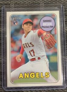 2018 Topps Heritage High Number Shohei Ohtani Action SP Variation Rookie RC