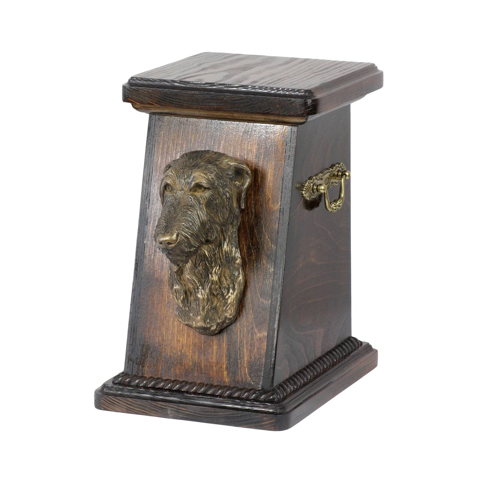 Deerhound - urna di legno con l'immagine di un cane Art Dog IT Tipo 3
