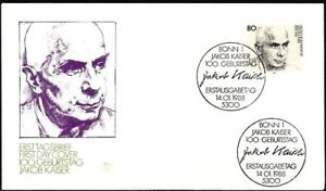 Rfa-1988-Jakob-Empereur-FDC-Le-No-1350-Avec-Bonner-Sonderstempeln-1A-1712