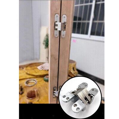 43,7 mm Cerniere nascoste a croce invisibili per porta pieghevole invisibile nascosto Croce cerniere per mobili Hardware porta in legno