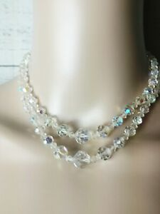 Sarah Coventry Glass Bead Necklace Vintage Jewelry