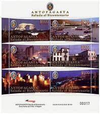 Chile 2010 Sheetlet Antofagasta City in Bicentennial 6 stamps