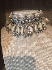 Cowrie Shell Silver Choker Necklace Boho Festival