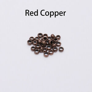 500pcs-Red-Copper-Rondelle-Crimp-End-Finding-Stopper-Spacer-Beads-Jewelry-Making