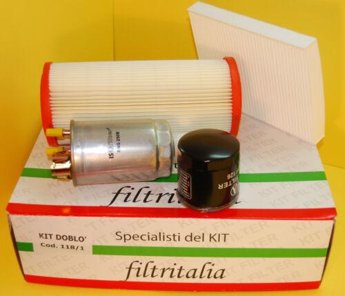 4 Filtri Tagliando Fiat Doblò 1.9 D 12//2002