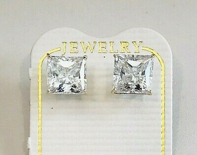 2.50 CARAT  10K SOLID YELLOW GOLD STUD EARRINGS W// ROUND FLAWLESS LAB DIAMONDS