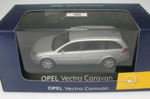 1:43 Schuco-OPEL VECTRA C CARAVAN-argento metallizzato-STATION WAGON Nuovo-modello di auto