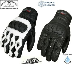 MENS-HARD-KNUCKLE-SHORT-WINTER-amp-SUMMER-MOTORBIKE-MOTORCYCLE-LEATHER-CE-GLOVES
