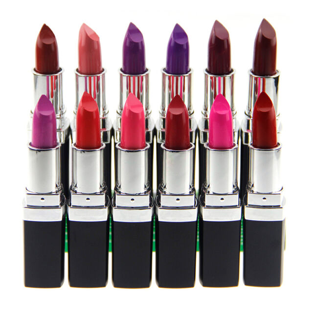 12 Colors Fashion Makeup Purple Lipstick Lip Gloss Waterproof Long Lasting x1