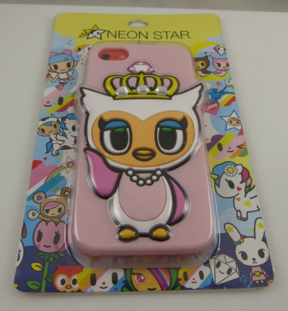 fits iPhone 5C, phone case neon store by Tokidoki owl crown tiara cute fun