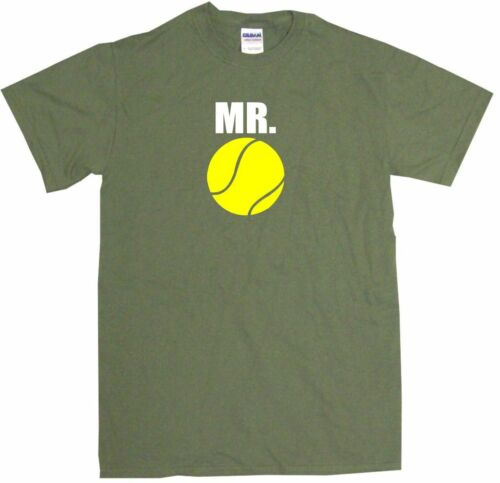 Mr Tennis Ball Mens Tee Shirt Pick Size Color Small-6XL