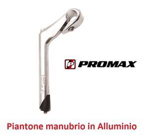 0210-Piega-Piantone-Manubrio-034-Promax-034-Alluminio-per-bici-20-24-26-28-City-Bike