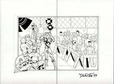 SPIDERMAN ORIGINAL COMIC ART DOUBLE PAGE SPREAD ADVENTURES OF SPIDER-MAN DPS