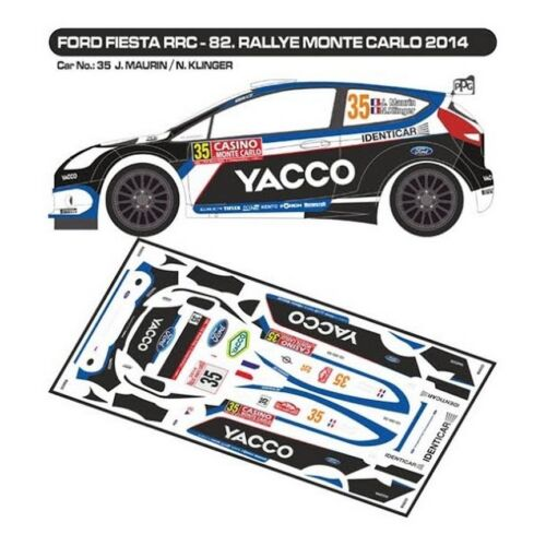 MF-ZONE D43277 MONTE CARLO 2014 DECALS 1//43 FORD FIESTA RRC #35 MAURIN